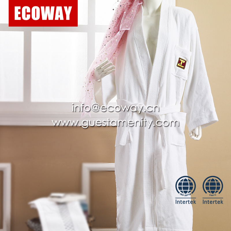 luxury white velour hotel bathrobes bathroom spa robes for adult