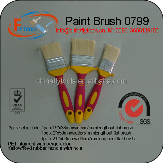 Rubberized Handle paint brush