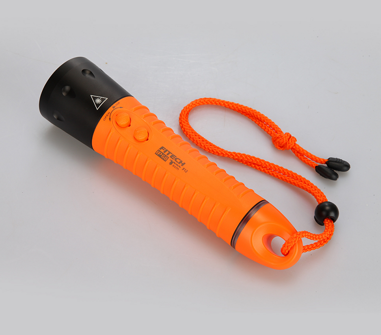 Fitech brightness XML <strong>U2</strong> 18650 rechargeable diving flashlight torch for underwater activity