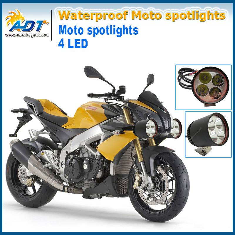 4*U2 LED chip 40W 4500lumens waterproof high power motorcycle led driving lights