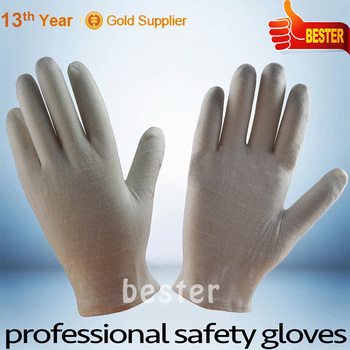 New coming top quality cotton canvas pvc dot working glove