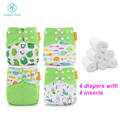 Portable baby changing pad Happy Flute whole sale pocket cloth diaper set with inserts