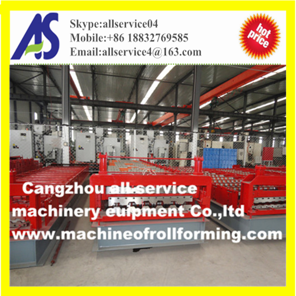Russia rolling roof and wall sheet forming machine