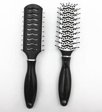 hot plastic material antistatic head massager hair brush with long handle