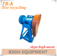tire pieces recycling machine / tire pieces cutter / waste tire pieces cutting machine