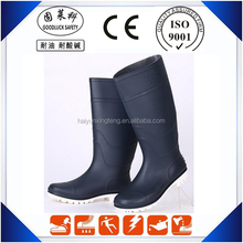 chemical resistant pvc safety rubber boots black boots