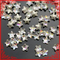 TA018 Shinny 6mm*6mm star Glass Crystal Stone For Acrylic Nail Salon Beauty Designs hollywood nails