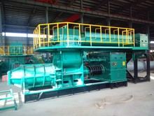 Double stage vacuum extruder automatic coal ash brick making machine for logo sintering brick