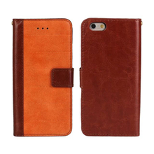 Alibaba new product matte finish PU leather case, flip wallet phone case for iPhone 6