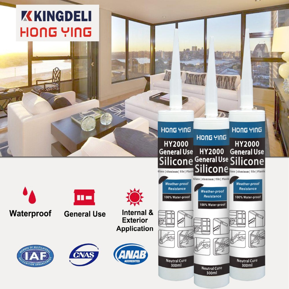 waterproof glass silicone sealant manufacturer for doors and windows