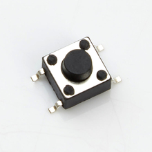 SMD SMT Momentary Mini Tact Tactile Push Button Switch 6x6x4.3mm rubber tact switch with Rosh Certificate