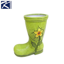 Indoor and outdoor high quality mini pottery flower pot ceramic boot