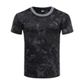 Polyester Cotton Camouflage Military Short Sleeve Army Camo T Shirt
