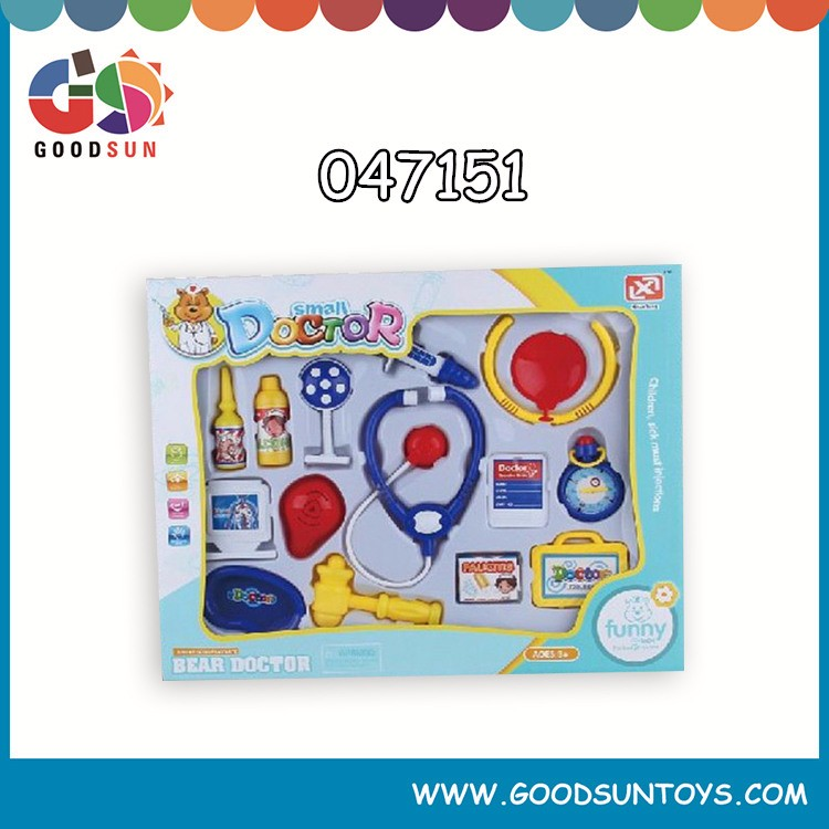 2015 popular plastic doctor toy medical kit for children pretend play