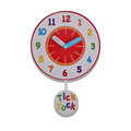Hot Selling Products Colorful Dial Nunber Tell The Time Pendulum Wall Clock