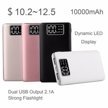 Factory Mini 10000mAh Mobile Battery Charger Fast Charging Dynamic Rohs Portable QC3.0 Power Bank