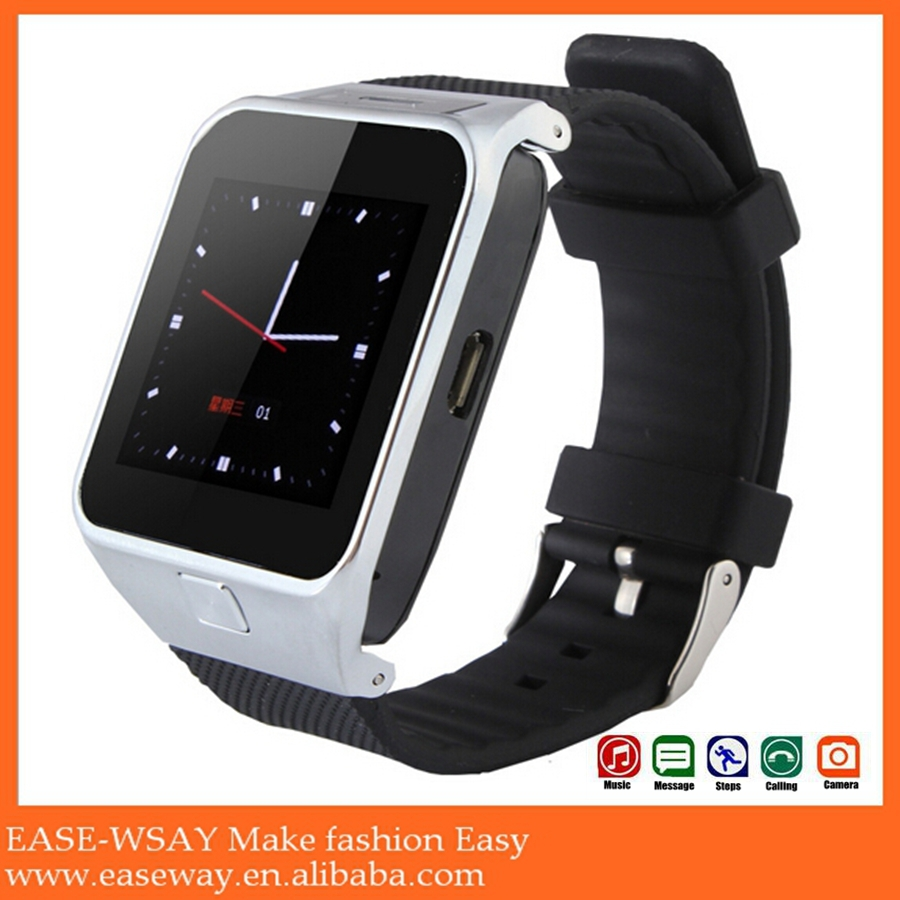WP002 fashional smart watch phone avatar et-1iwith booth camera , phone call sleeping monitor smart watch