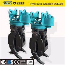 CE-approved hydraulic log grab for mini excavator