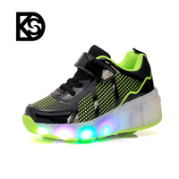 New style led luminous with 1 wheel kids low price roller skate shoes