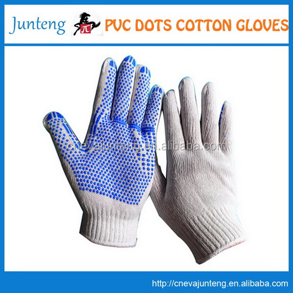 Top level hot selling jacquard cotton gloves short
