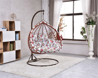 stereo egg chair Park/Bedroom Hammock Swing Hanging Chair with Iron Steel Stand Base Double Seats egg chair