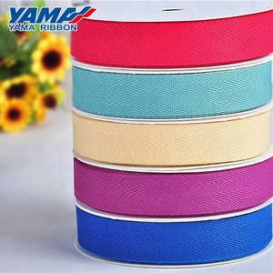 Yama wholesale solid colors polyester cotton ribbon