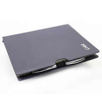 huaben designer leather memo pad with pen