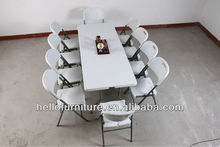 HL- Portable Easy Carry Foldable Picnic Table with 8-10 Chairs
