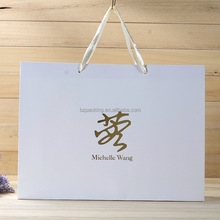 large paper shopping bags with handles with Logo Design