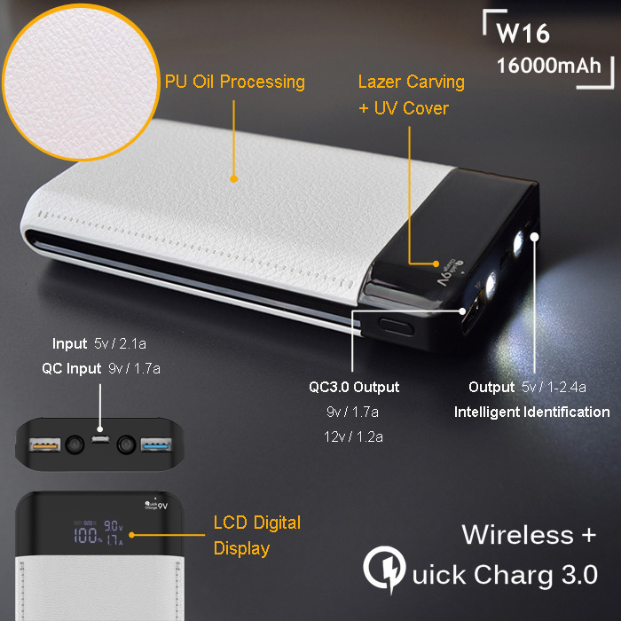 Wholesale 2017 hot selling fast charging power bank 10000mah