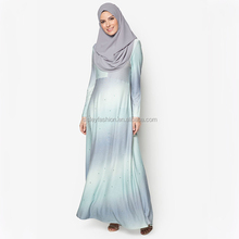 New design fashion dubai abaya wholesale abaya dress printed jersey muslim abaya