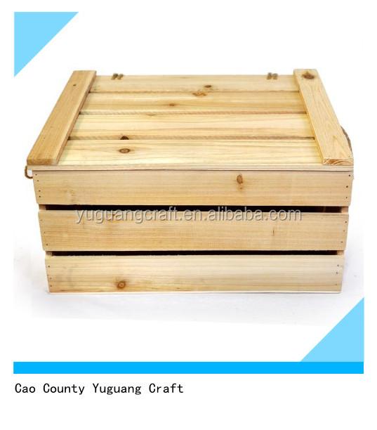 Wholesale mini decorative wood fruit vegetable crates for Buy wooden fruit crates