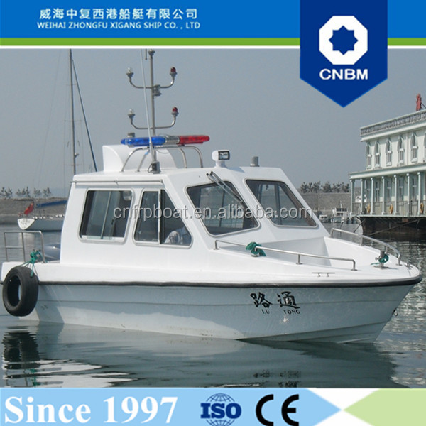 CE Certification and Fiberglass Hull Material 6.8m Military Patrol Boat for Sale