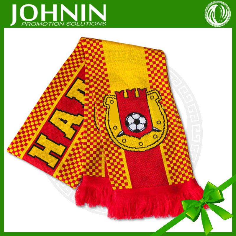 2016 euro cup teams directly factory customized feather yarn knitted scarf