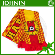euro cup teams directly factory customized feather yarn knitted scarf