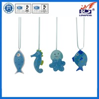 Different kinds of ocean series custom octopus,seahorse,fish design ceramic hanging decoration