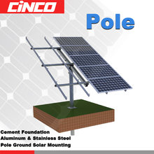 Pole Support mounting System stall mono poly solar panel for solar home system