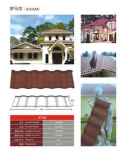 Prepainted colorful stone coated metal roof tile