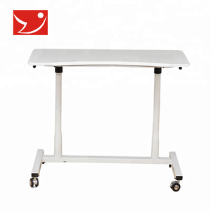 Portable adjustable mobile lifting laptop table