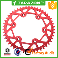 46-52 teeth motorcycle aluminium alloy rear sprocket for honda