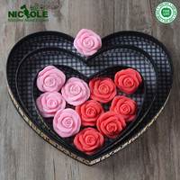 6 Cavities Flowers Shaped Silicone Moulds, Multi Silicon Soap Mold Flowers, DIY Valentines Chocolate Mould Flowers Shape