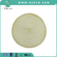round knit polyester fabric table mats