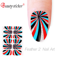 colourful feather 2 nail art & nail stciker 2