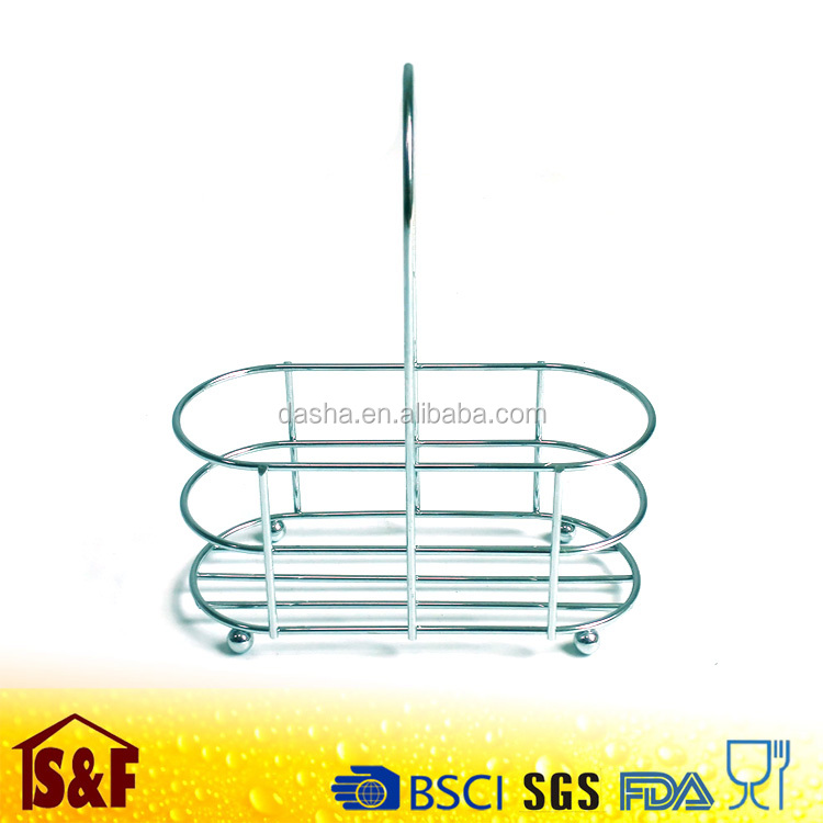 Stainless Steel Decorative Spice Display Rack for Restaurant