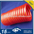 Direct selling PU PVC material Power Spring Wire Spiral Cable Coiled Cable Automatic Spring Extension cord