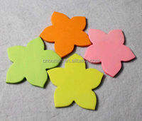 neon paper shaped sticky notepads flower shape colorful sticky memo pad