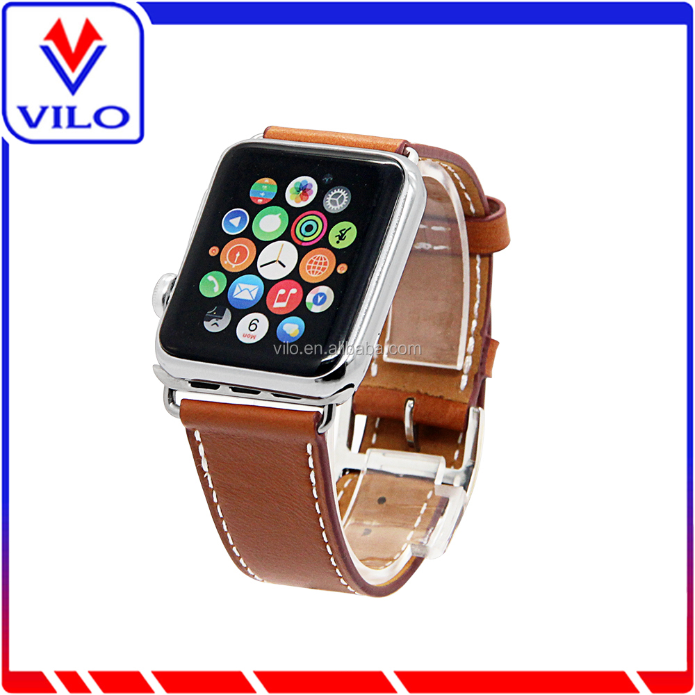 Wholesale Cheap Fashion Genuine Watches Leather Straps / Bands For Apple Watch 38mm 42mm