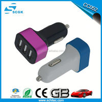 3 Way Car Cigarette Lighter Socket Splitter Charger Power Adapter DC+USB 12V-24V Car Charger USB