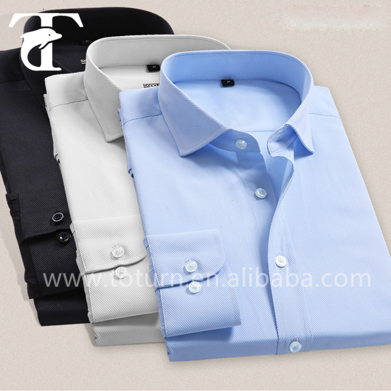 2016 High quality slim fit 100% egyptian cotton men dress shirts