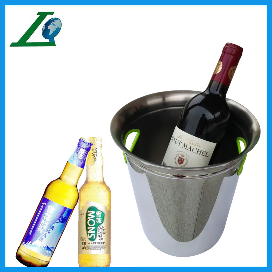 High quality and sand polished stainless steel beverage cooler